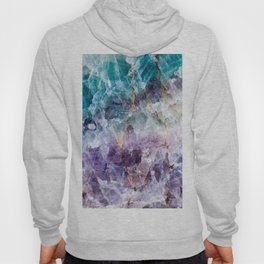 Turquoise & Purple Quartz Crystal Hoody