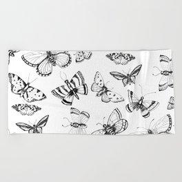 Butterflies and moths Beach Towel
