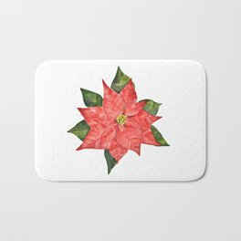 Christmas pointsettia Bath Mat