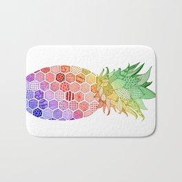 Pineapple. Multi-Colour Version. Bath Mat