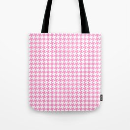 Rose Quartz Houndstooth Tote Bag