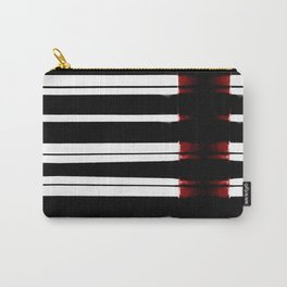 Black And White Lines Carry-All Pouch