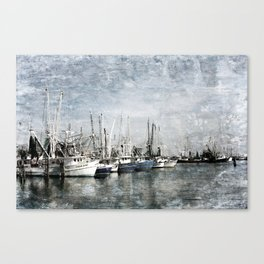 Shrimp Boats at the Pass Harbor Canvas Print