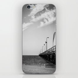 Jetty in Black and White iPhone Skin