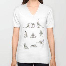Skeleton Yoga Unisex V-Neck