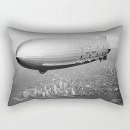 Airship Flying Over New York City Rectangular Pillow