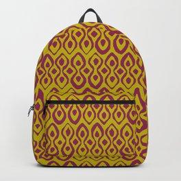 brocade dark pink chartreuse Backpack
