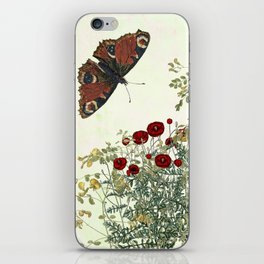 Shaking the wainscot where the field mouse trots iPhone Skin