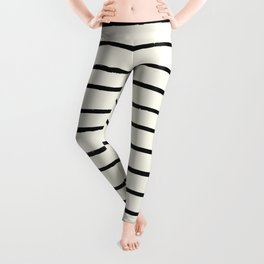 Horizontal Ivory Stripes II Leggings