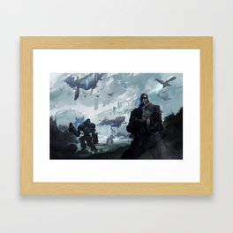 Iron sky Framed Art Print