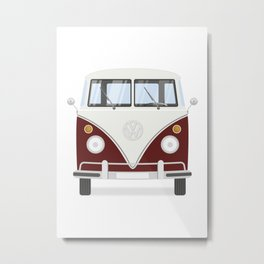 Hippie bus Metal Print