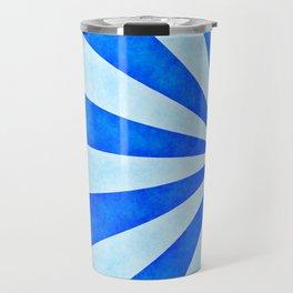 Blue sunburst Travel Mug