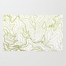 Secret places I - handmade green map Rug