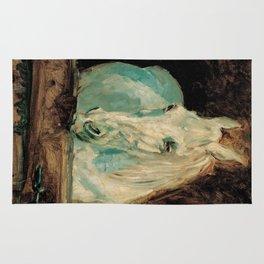 The White Horse Gazelle - Henri Toulouse-Lautrec Rug