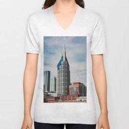 Nashville Skyline Unisex V-Neck