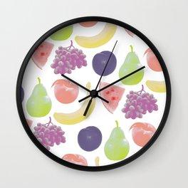fruit soup Wall Clock