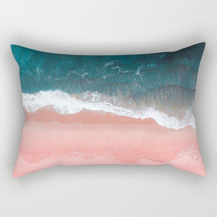 Turquoise Sea Pastel Beach III Rectangular Pillow