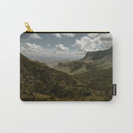 Cloudy Vibrant Mountaintop View in Big Bend - Lost Mine Trail Carry-All Pouch