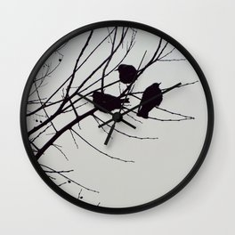Three birds Wall Clock
