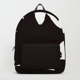 White Silhouette of Glossy Ibises In Flight Backpack