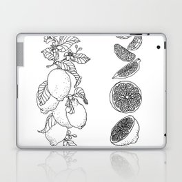 Citrus Branch of Lemons and Slices of Fruit Laptop & iPad Skin