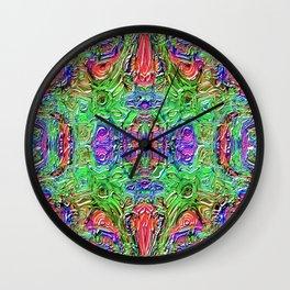 Ridged Patterns 3 B Wall Clock