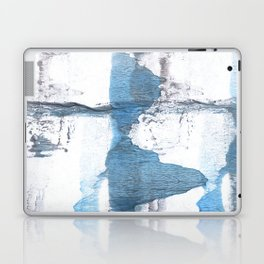 Blue hand-drawn watercolor Laptop & iPad Skin