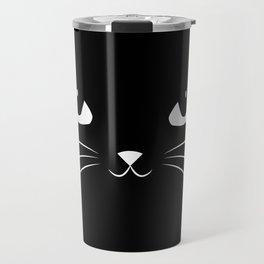 Cute Black Cat Travel Mug
