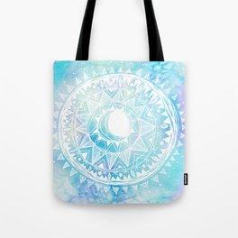 Watercolor Moon Mandala Tote Bag