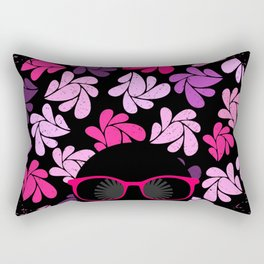 Afro Diva Pink Purple Rectangular Pillow