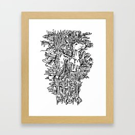 Melting Horse Framed Art Print