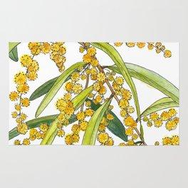 Australian Wattle Flower, Illustration Rug