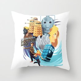 Doctor Who - Rose and the Doctor Throw Pillow