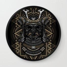 Samurai mask Wall Clock