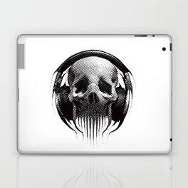 Alien Skull Listening to Music on Pro Beats Laptop & iPad Skin