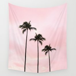 Palm Tree Photography Peach | Blush Pink | Millennial Pink | Miami Wall Tapestry
