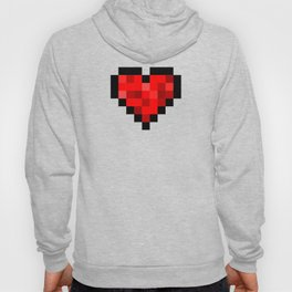 8bit pixelated heart. Hoody