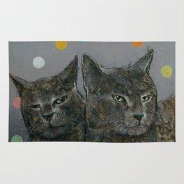 Grey Cats Rug