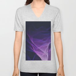 Out of the Blue - Pink, Blue and Ultra Violet Unisex V-Neck