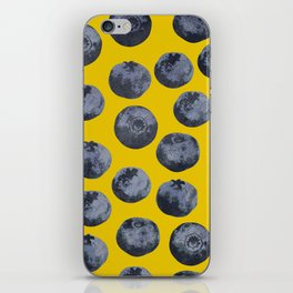 Blueberry pattern iPhone Skin