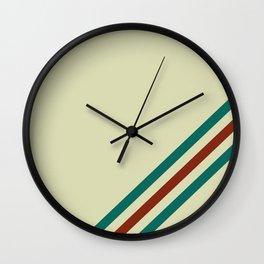 Vintage Racing Stripe Wall Clock