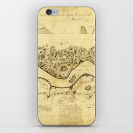 Original West Point Survey Map October 24th-27th 1783 iPhone Skin