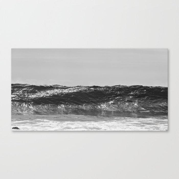 Monochrome Wave Canvas Print