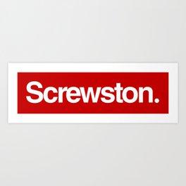 Screwston. Art Print