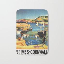 Vintage St. Ives Cornwall England Travel Bath Mat