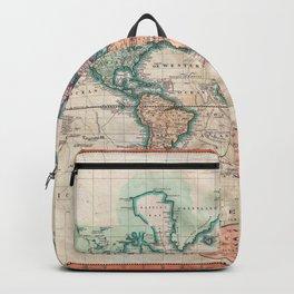 Vintage World Map 1801 Backpack