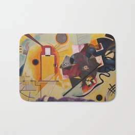 Wassily Study Repro yellow red blue 1925  Bath Mat