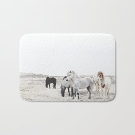 WILD AND FREE  1 - HORSES OF ICELAND Bath Mat