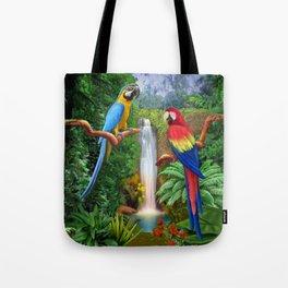 Macaw Tropical Parrots Tote Bag