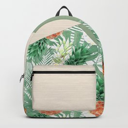 Combined pattern with pineapples. patchwork. Backpack